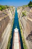 Corinth kanal Royaltyfri Bild
