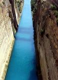 Corinth kanal Royaltyfri Fotografi