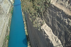 Corinth kanal Arkivfoto