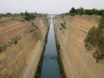 Corinth kanal Fotografering för Bildbyråer