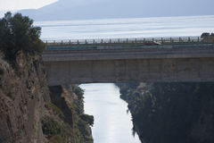 Corinth kanal Arkivbilder
