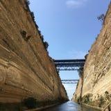 Corinth kanal Royaltyfria Bilder