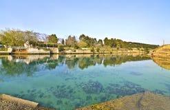 Corinth kanal - Corinth näs Grekland Arkivbild