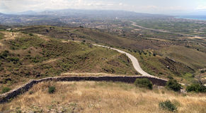 Corinth krajobraz, Grecja Fotografia Stock