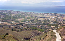 Corinth landskap, Grekland Arkivfoton