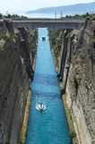 Corinth passagekanal Royaltyfria Foton