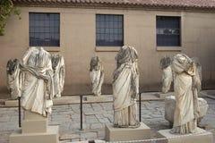 Corinthe antique, statue dans le musée Photo libre de droits