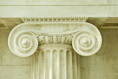 Corinthian antique column. In an interior British museum Royalty Free Stock Image