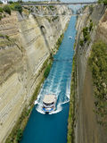 Corinthian canal, Greece Stock Image