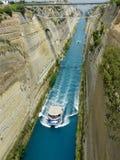 Corinthian canal, Greece. View of Corinthian canal, Greece Stock Image