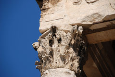 Corinthian capital. From Temple of Augustus in Pula, Croatia Stock Images