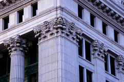 Corinthian Caps. Close up of architectural Corinthian column caps from a courthouse building in downtown Milwaukee, Wisconsin Royalty Free Stock Photos
