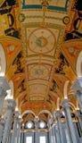 Corinthian Cols do teto do fresco Imagens de Stock Royalty Free