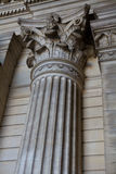 Corinthian Column. In the Palais de Justice (Justice Court) in Brussels, Belgium Royalty Free Stock Photography