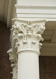 Corinthian Column. A detail a Corinthian column capital Royalty Free Stock Photo