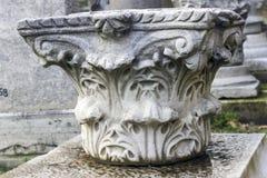 Corinthian column capital fragment Stock Photos