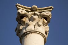 Corinthian column capital isolated Royalty Free Stock Photos