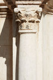 Corinthian column and capital in roman theatre Royalty Free Stock Photography