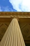 Corinthian Column With Clouds Stock Photo