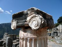 Corinthian Column, Delphi Royalty Free Stock Photography