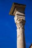 Corinthian column. Photograph of Corinthian column in Roman Forum, Italy Royalty Free Stock Photography