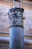 Corinthian column. Photograph of Corinthian column in Rome center, Italy Royalty Free Stock Photos