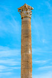 Corinthian column of Zeus temple in Greece Stock Photo