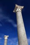 Corinthian columns. Two corinthian ancient columns with blue sky Stock Photography