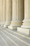 Corinthian columns. Massive stone Corinthian columns at the US Supreme Court Royalty Free Stock Image