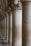The Corinthian columns of Doge's Palace Arcade Royalty Free Stock Photo