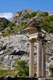 Corinthian Columns in Glanum Stock Photos