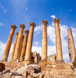 Corinthian columns in Jerash Royalty Free Stock Images
