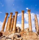 Corinthian columns in Jerash Royalty Free Stock Images