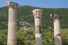 Corinthian columns near the agora Royalty Free Stock Photo