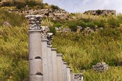 Corinthian Columns at Perga Royalty Free Stock Photography