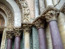 Corinthian Columns, Saint Marks Cathedral,  Venice Stock Images