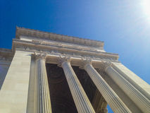 Corinthian columns side of the altar of the fatherland in Rome - Italy Royalty Free Stock Images
