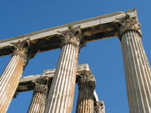 Corinthian columns at the Temple of Olympian Zeus, Athens, Greece Stock Images
