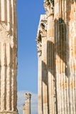 Corinthian columns of Temple of Zeus, Athens Royalty Free Stock Photography