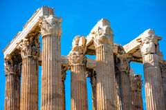 Corinthian columns of Zeus temple in Greece Stock Photo