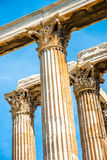 Corinthian columns of Zeus temple in Greece Royalty Free Stock Image