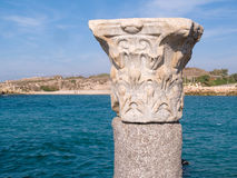 Corinthian Greek Roman Classical Marble Column Stock Photos