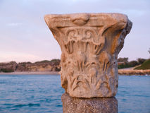 Corinthian Greek Roman Classical Marble Column Royalty Free Stock Photo