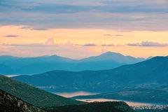 Corinthian Gulf. At the evening Royalty Free Stock Photo