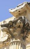 Corinthian huvudstad av Roman Provincial Forum av Merida, Spanien royaltyfria bilder