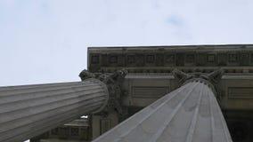 Corinthian Order Building Columns stock video