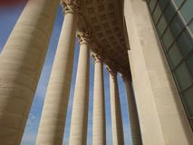 Corinthian pillars of the Panthéon Paris. The Panthéon is a building in the Latin Quarter in Paris. It was originally built as a church dedicated to St stock images