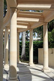 Corinthian pillars and pathway. Pathway with corinthian pillars and pergola outside the  Versace hotel in Queensland, Aus Royalty Free Stock Photo