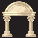 Corinthian realistic antique greek temple with Royalty Free Stock Image