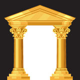 Corinthian realistic antique greek temple with Stock Photography
